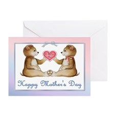 Twin Bears Boy & Girl Greeting Cards (Pk of 20)