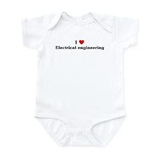 I Love Electrical engineering Infant Bodysuit