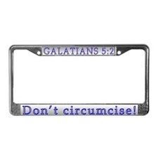 Galatians License Plate Frame