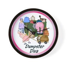 Dumpster Diva Wall Clock