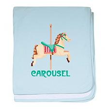 Carousel baby blanket