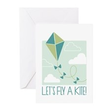 Lets Fly A Kite Greeting Cards