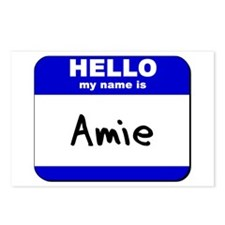 hello my name is amie  Postcards (Package of 8)