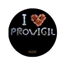 "I Heart Provigil Button 3.5"" Button"