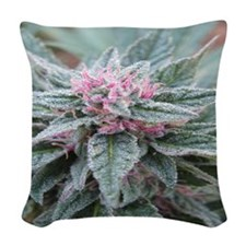 Pink Love Woven Throw Pillow