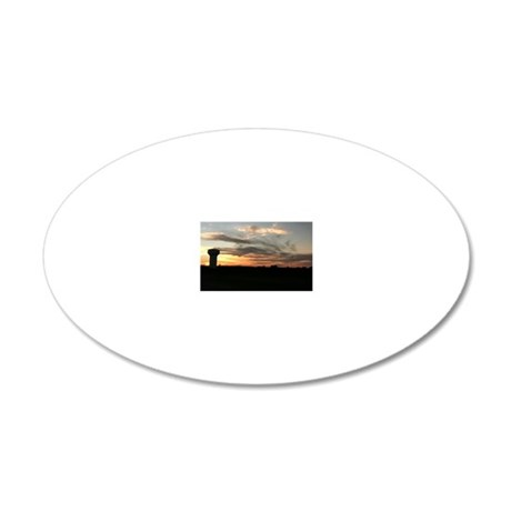 Water Tower backdrop by Sky 20x12 Oval Wall Decal