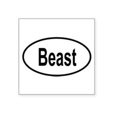 BEAST Oval Sticker
