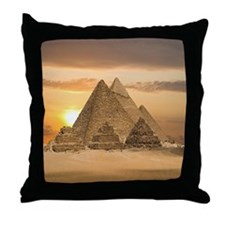 Giza Pyramids Throw Pillow