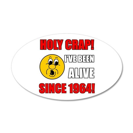 1964 Holy Crap 20x12 Oval Wall Decal