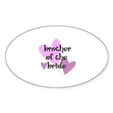 "Brother of the Bride 3"" Lapel Sticker (48 pk)"
