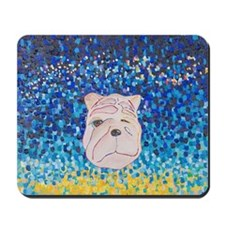 Fat dog - Night Dog Mousepad