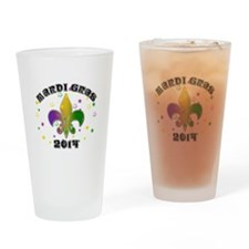 Mardi Gras 2014 Drinking Glass