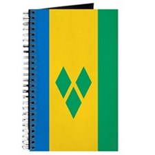 Saint Vincent And The Grenadines Flag Journal