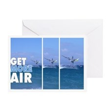 Windsurfer in the Air T-Shirt Greeting Card
