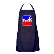 Swimming League Logo Apron (dark)