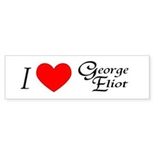 I Love George Eliot Bumper Car Sticker