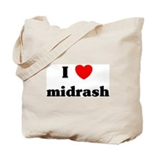 I Love midrash Tote Bag