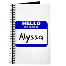 hello my name is alyssa Journal