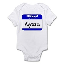 hello my name is alyssa  Infant Bodysuit