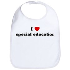 I Love special education Bib