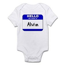 hello my name is alvin  Infant Bodysuit