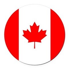 Canadian Flag Round Car Magnet