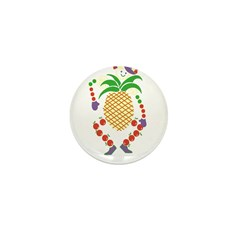 Monsieur ananas Mini Button (10 pack)