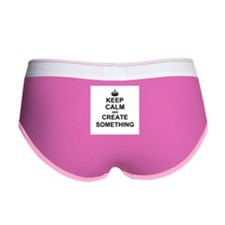 Keep Calm and Create Something Women's Boy Brief
