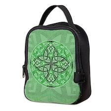 Celtic Clover Mandala Neoprene Lunch Bag