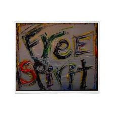 free spirit Throw Blanket