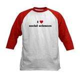 I Love social sciences Tee
