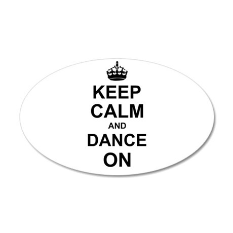 Keep Calm and Dance on Wall Sticker