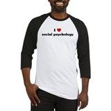 I Love social psychology Baseball Jersey