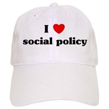 I Love social policy Baseball Cap