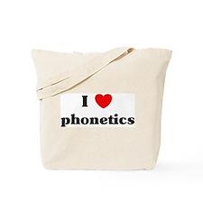 I Love phonetics Tote Bag