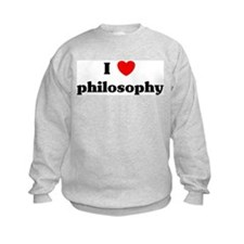 I Love philosophy Sweatshirt