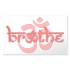 (Red) Breathe With Om Decal