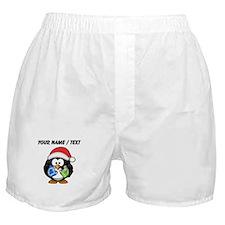 Custom Santa Claus Penguin Boxer Shorts