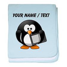 Custom Tablet Penguin baby blanket