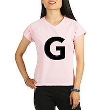 Letter G Black Performance Dry T-Shirt