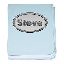Steve Metal Oval baby blanket