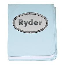 Ryder Metal Oval baby blanket