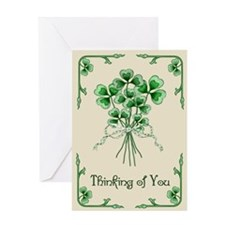 Shamrock Bouquet Greeting Card
