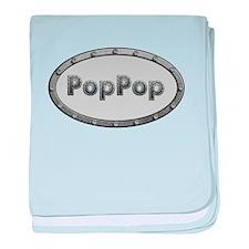 PopPop Metal Oval baby blanket