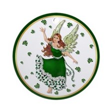 Irish Shamrock Magic Ornament (Round)