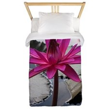Hot Pink Lotus Twin Duvet