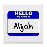 hello my name is alijah  Tile Coaster