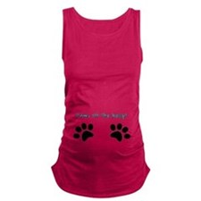 Paws off the belly! Maternity Tank Top