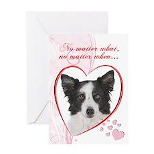Border Collie Valentine Greeting Card
