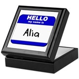 hello my name is alia Keepsake Box